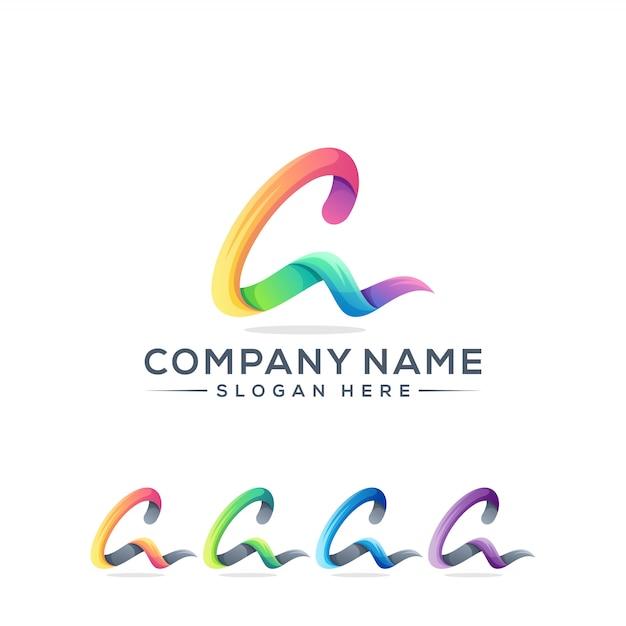 Brief ein logo-design für ihr unternehmen Premium Vektoren