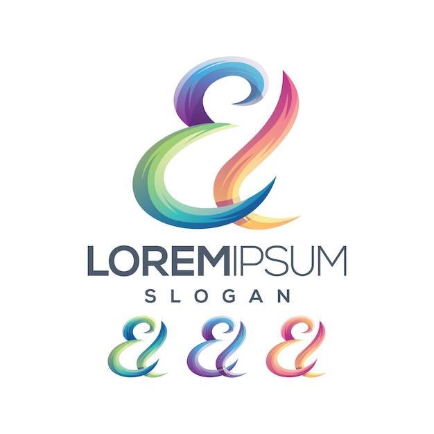 Brief el logo farbverlauf sammlung Premium Vektoren