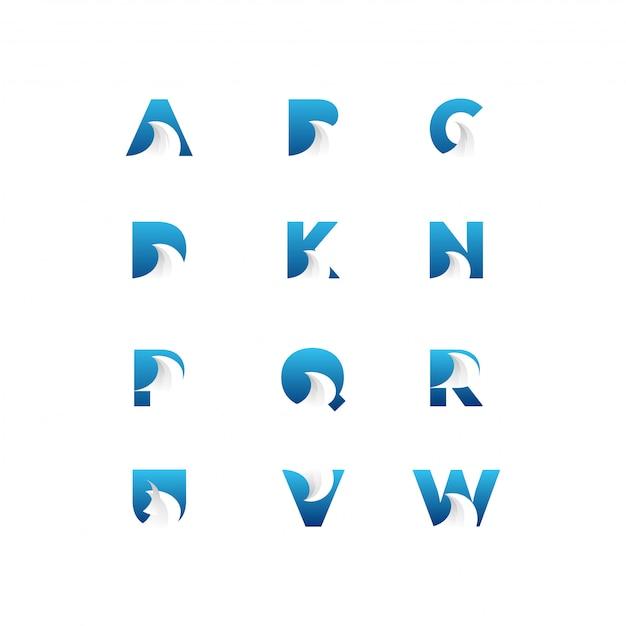 Brief-logo-bündel Premium Vektoren