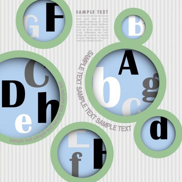 Briefe Mit Cd : Briefe mit kreisen design vektor download der