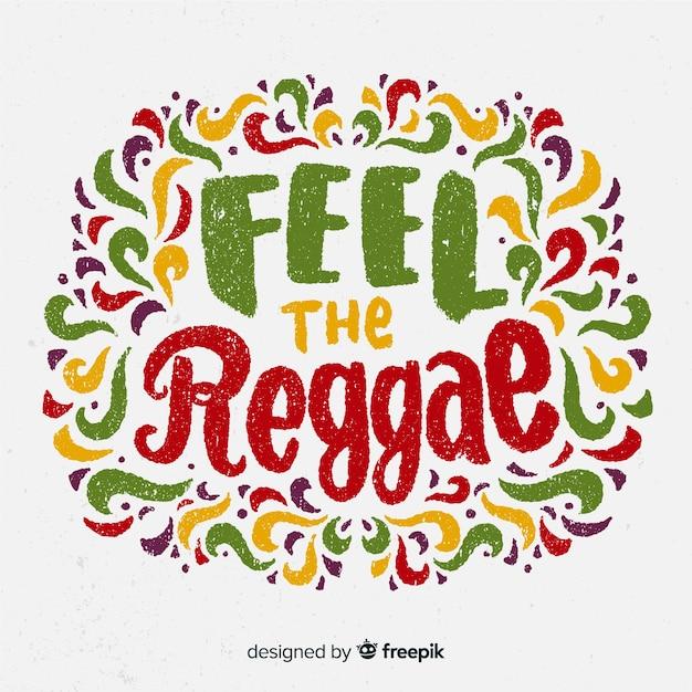 Briefe reggae hintergrund Kostenlosen Vektoren