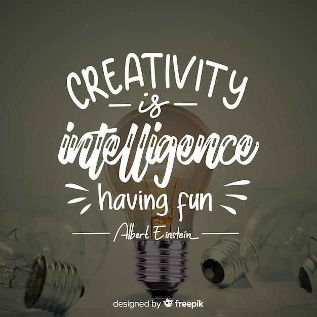 Briefgestaltung mit kreativitätszitat Kostenlosen Vektoren