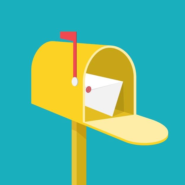 Briefkasten. Premium Vektoren