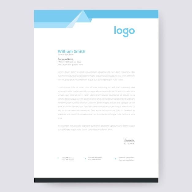 Briefkopf design Premium Vektoren