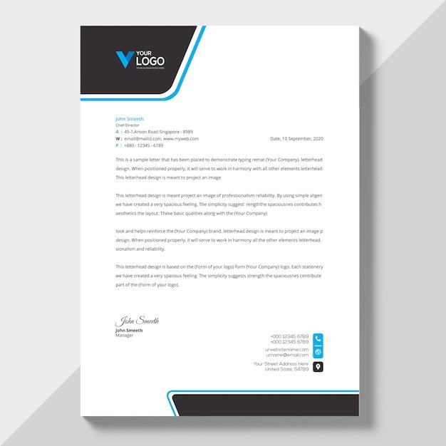 Briefkopf Vorlage Download Der Kostenlosen Vektor