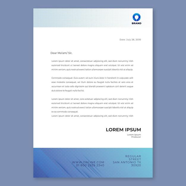 Briefkopfvorlage für allgemeine geschäftsseminare Premium Vektoren