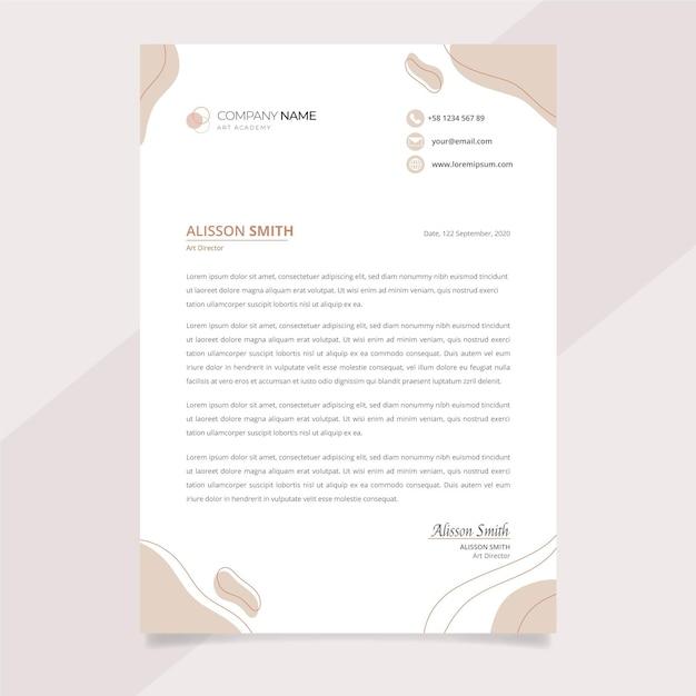 Briefkopfvorlage Premium Vektoren