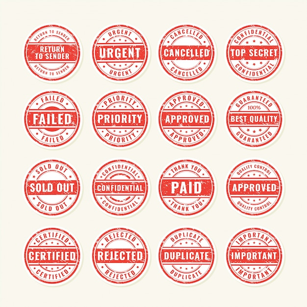 Briefmarke Premium Vektoren
