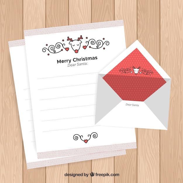 Briefvorlage Mit Einem Rentier Und Ornamenten Download Der