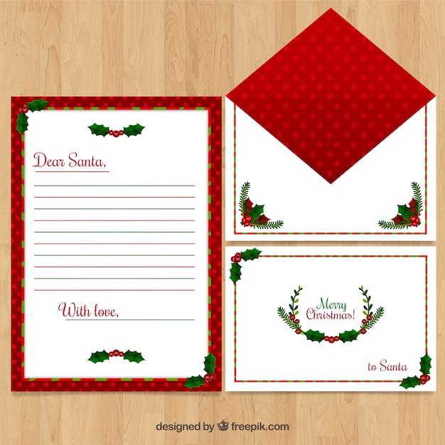 Briefvorlage Mit Typischen Weihnachtsdekorationen Download Der