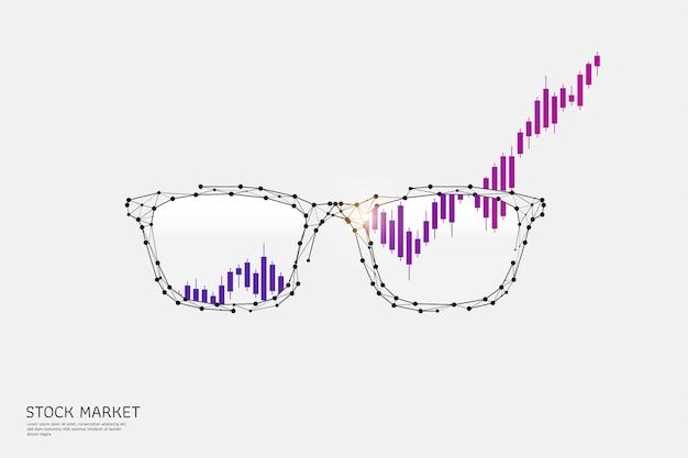 Brille im polygonalen drahtgitterstil Premium Vektoren