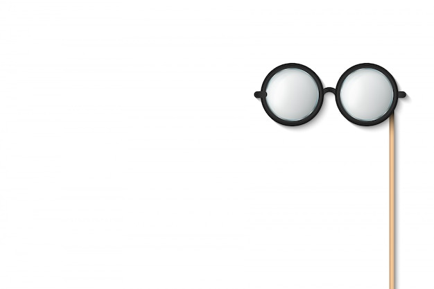 Brille kleben, brille photobooth requisiten. Premium Vektoren