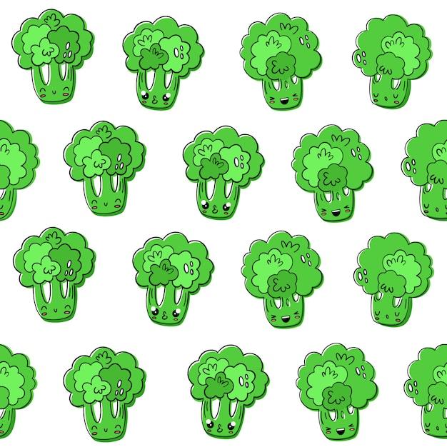 Brokkoli-muster Premium Vektoren