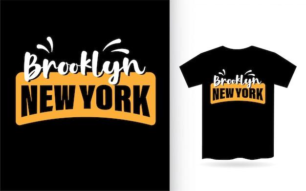 Brooklyn new york typografie Premium Vektoren