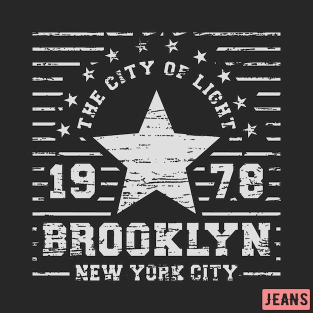 Brooklyn-sternweinlese Premium Vektoren