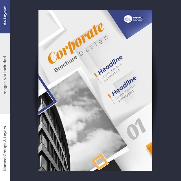 Broschüre design vektor vorlage Premium Vektoren