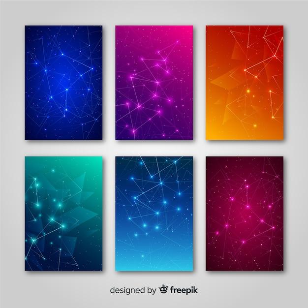 Broschüre mit farbverlaufstechnologie Kostenlosen Vektoren
