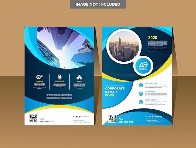 Broschüre vorlage cover design jahresbericht magazin flyer oder broschüre Premium Vektoren