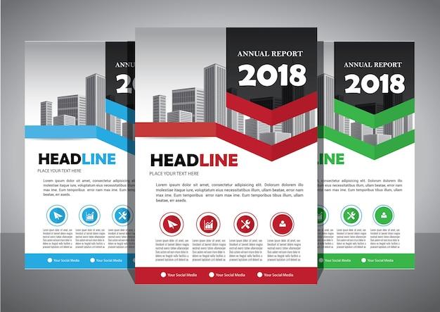 Broschüre vorlage layout abdeckung design jahresbericht Premium Vektoren