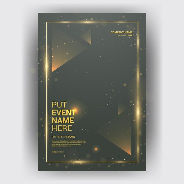 Broschüre wirtschaftsmagazin mit geometrischem layoutkonzept Premium Vektoren