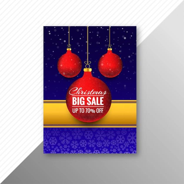 Broschüren-designvektor des weihnachtsballs schöner Premium Vektoren