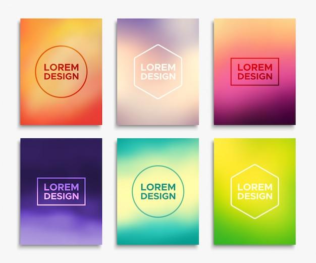 Broschüren-flyer-layouts im a4-format. Premium Vektoren
