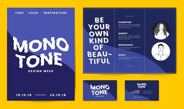 Broschüren poster und visitenkartenvorlage Kostenlosen Vektoren