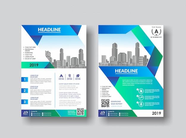Broschürenkatalog-flyer für den hintergrund Premium Vektoren