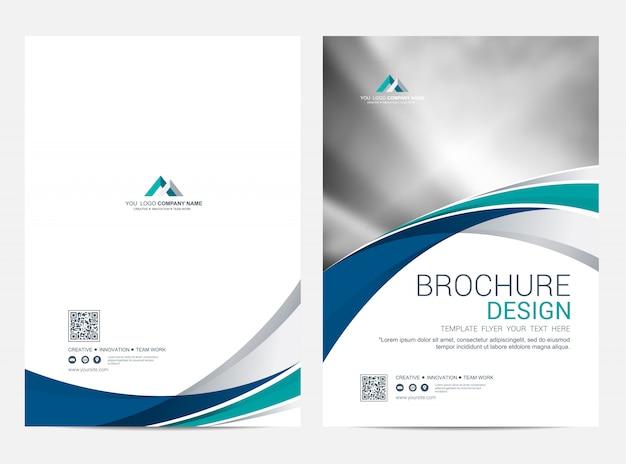 Broschürenschablonenfliegerdesign-vektorhintergrund Premium Vektoren