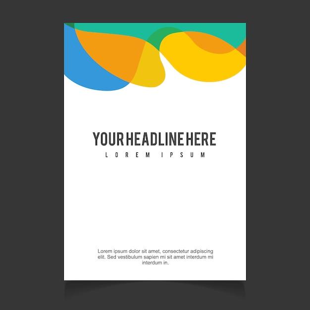 Broschüre Template-Design Kostenlose Vektoren