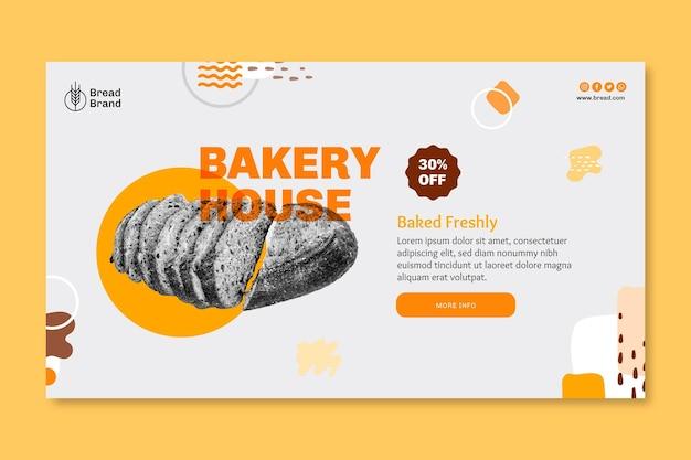 Brot banner vorlage Kostenlosen Vektoren