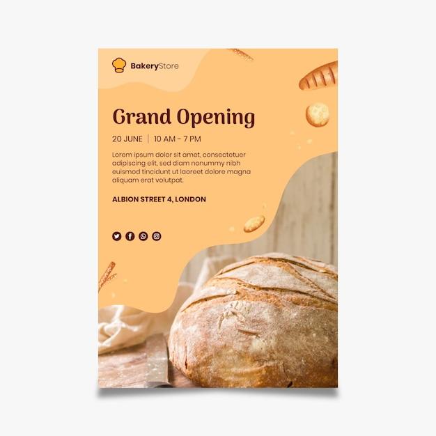 Brotplakatschablone Kostenlosen Vektoren