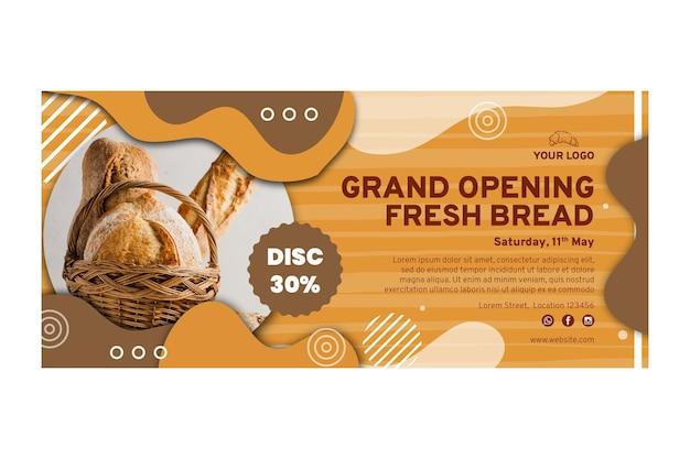 Brotverkauf banner vorlage Kostenlosen Vektoren