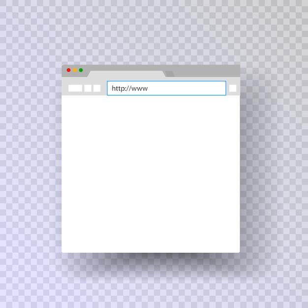 Browser fenster. vorlagenbrowser. mac-browser. web-links für eingabezeichenfolgen. Premium Vektoren