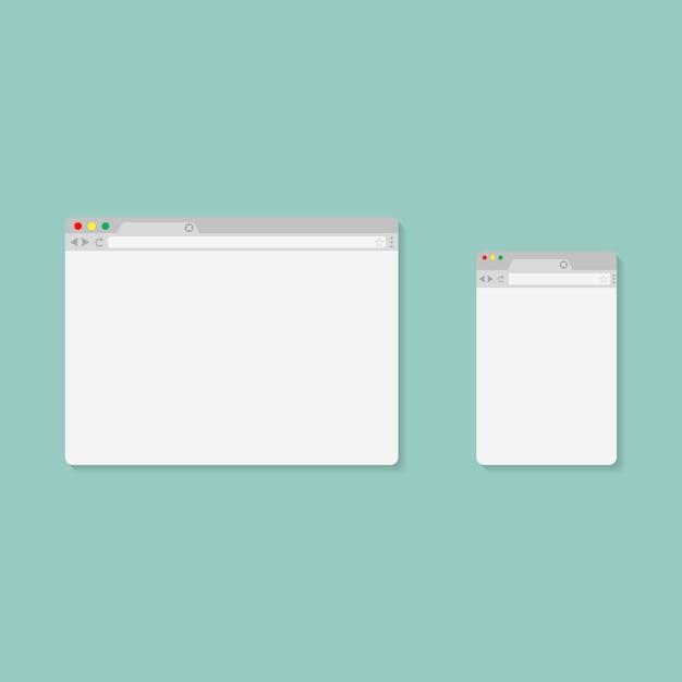Browser-stil Premium Vektoren