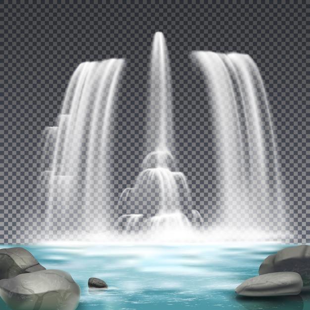 Brunnen wasserwerk realistisch Kostenlosen Vektoren
