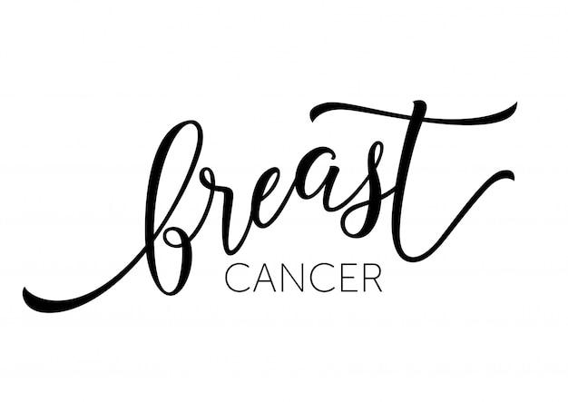 Brustkrebs-aufschrift Kostenlosen Vektoren