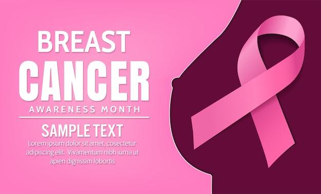 Brustkrebs-bewusstsein, vektor-design Premium Vektoren