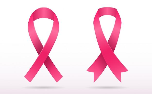 Brustkrebs bewusstsein vektor hintergrund Premium Vektoren
