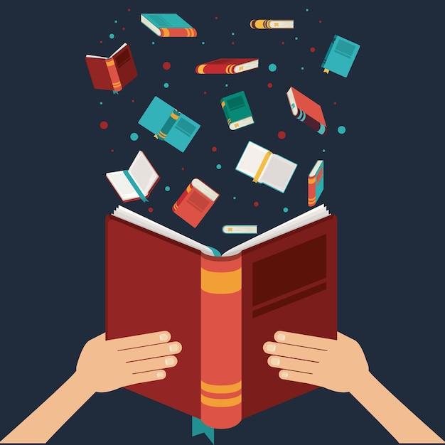 Buch geöffnet Premium Vektoren