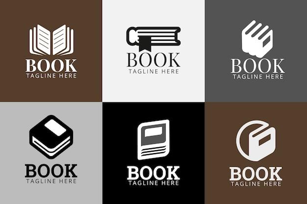 Buch logo vorlagenpaket Kostenlosen Vektoren