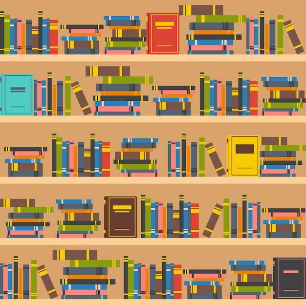 Buch regale illustration Kostenlosen Vektoren