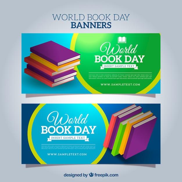 Buch Tag Banner Kostenlose Vektoren