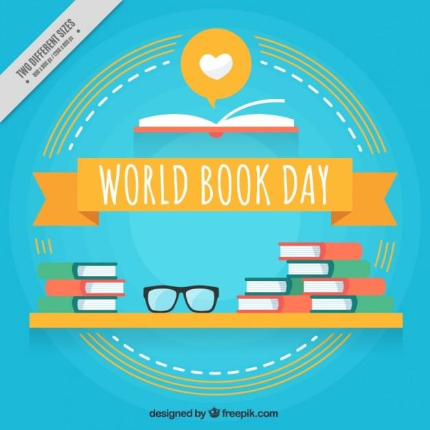 Book Cover Design World Book Day : Bücher auf einem regal hintergrund download der