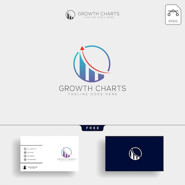 Buchhaltung, finanzieren sie kreative logoschablone Premium Vektoren