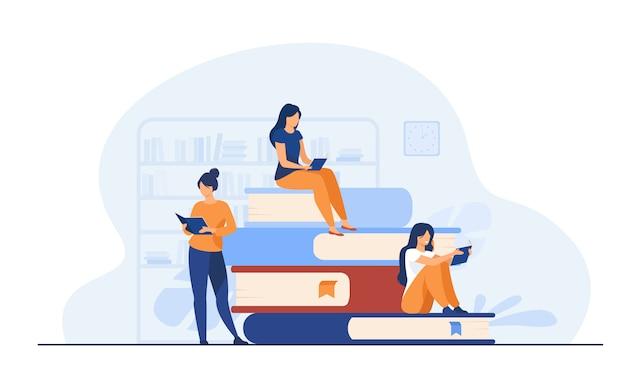 Buchleserkonzept Kostenlosen Vektoren