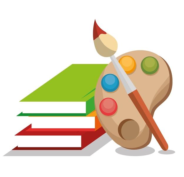 Buchschule lokalisierte ikonenvektor-illustrationsdesign Premium Vektoren
