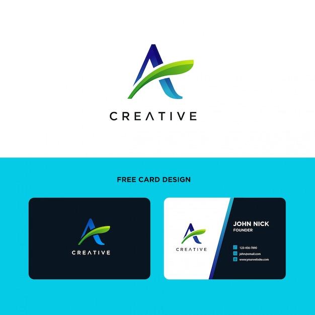 Buchstabe a logo design template Premium Vektoren