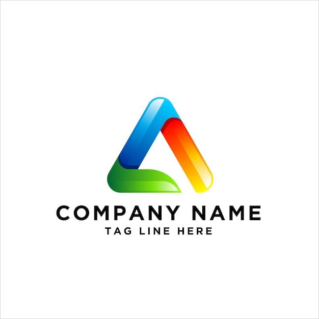 Buchstabe a logo design Premium Vektoren