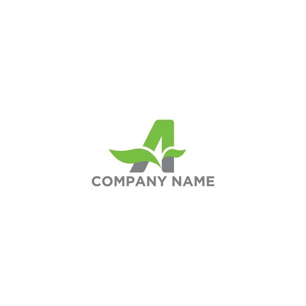 Buchstabe a logo organic vorlage Premium Vektoren